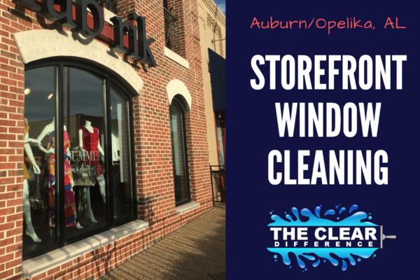 Storefront Window Cleaning in Auburn & Opelika, Alabama