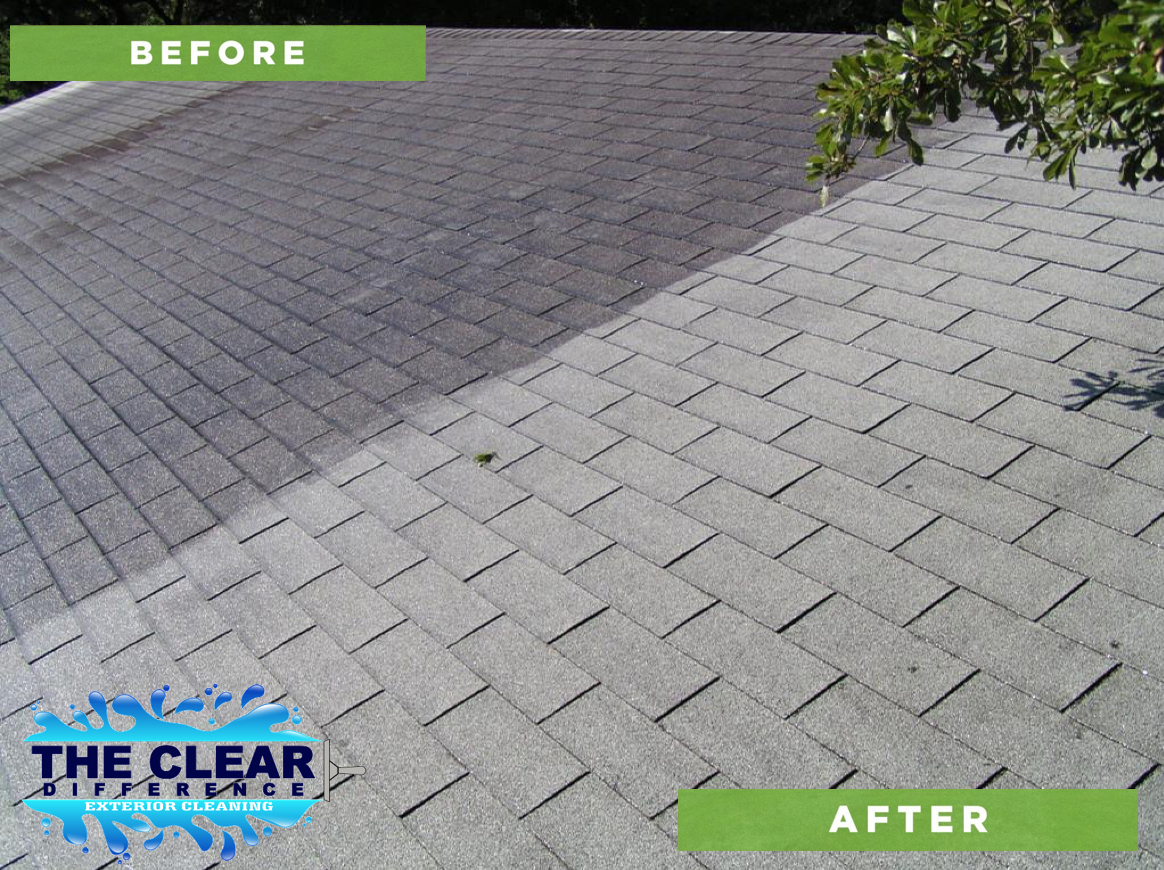 before after roof cleaning alabama opelika